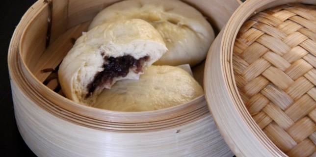 Banh bao à la purée de haricots azuki confits