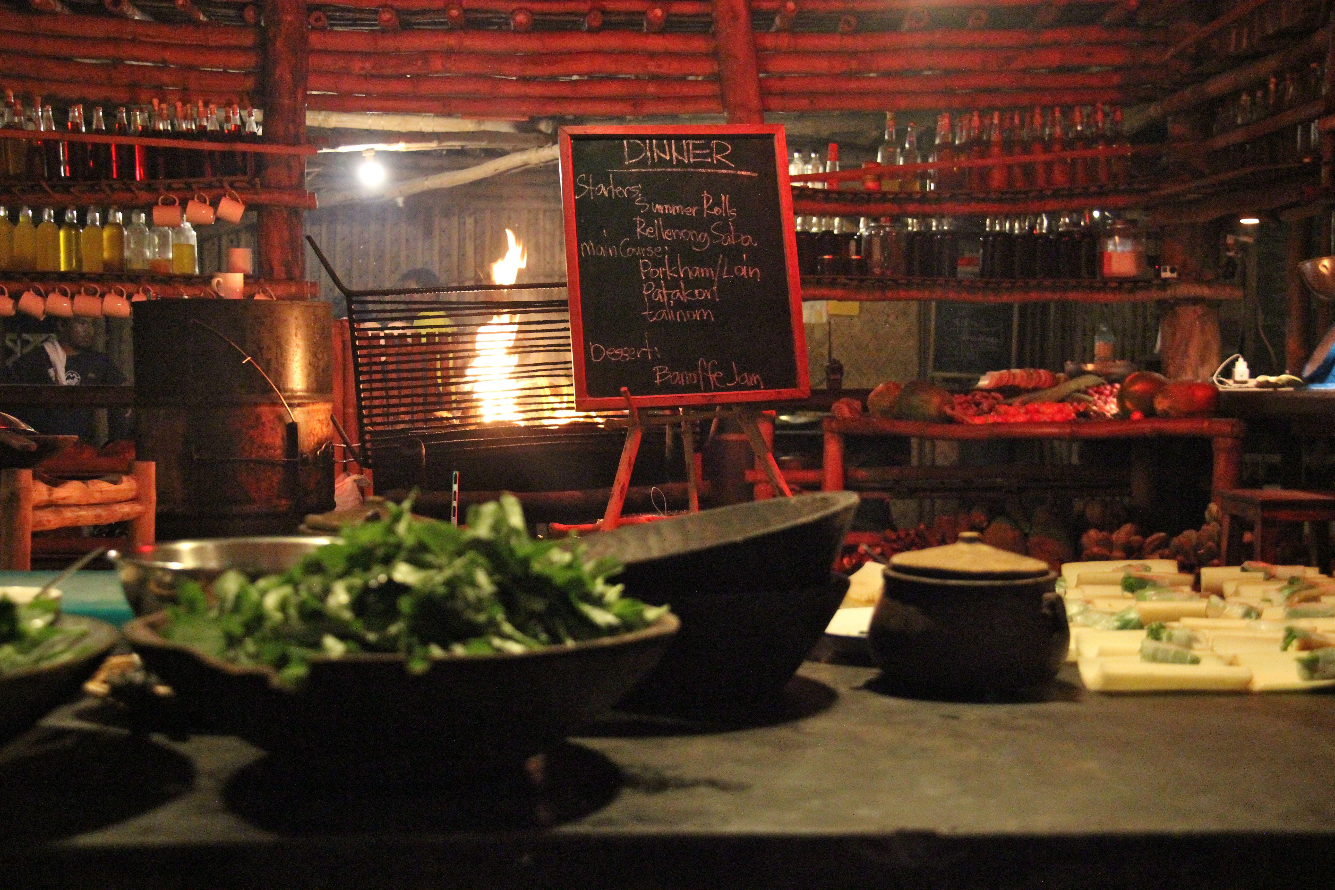 Menu du dîner - Kantina Tao farm