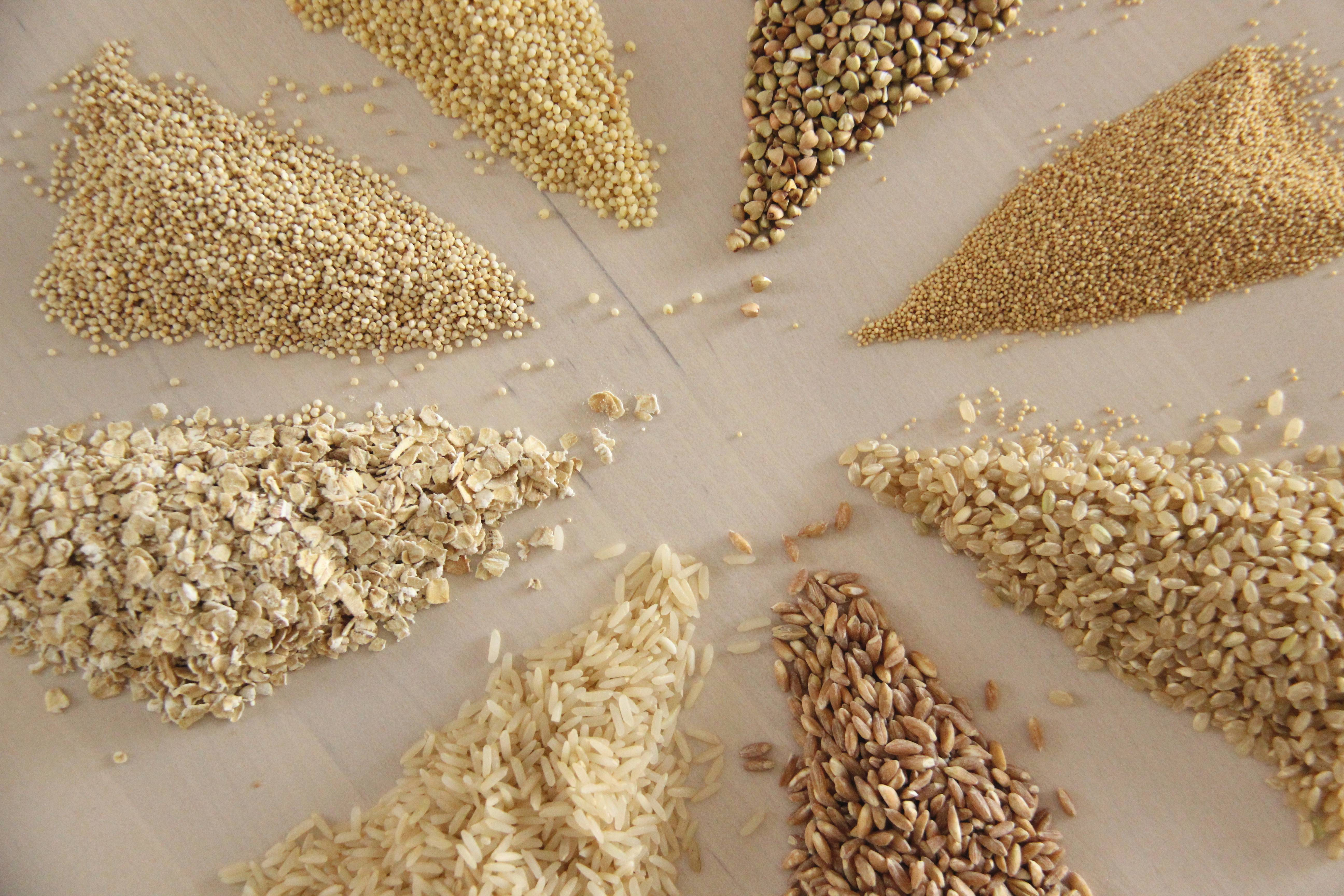 Céréales complètes en vrac