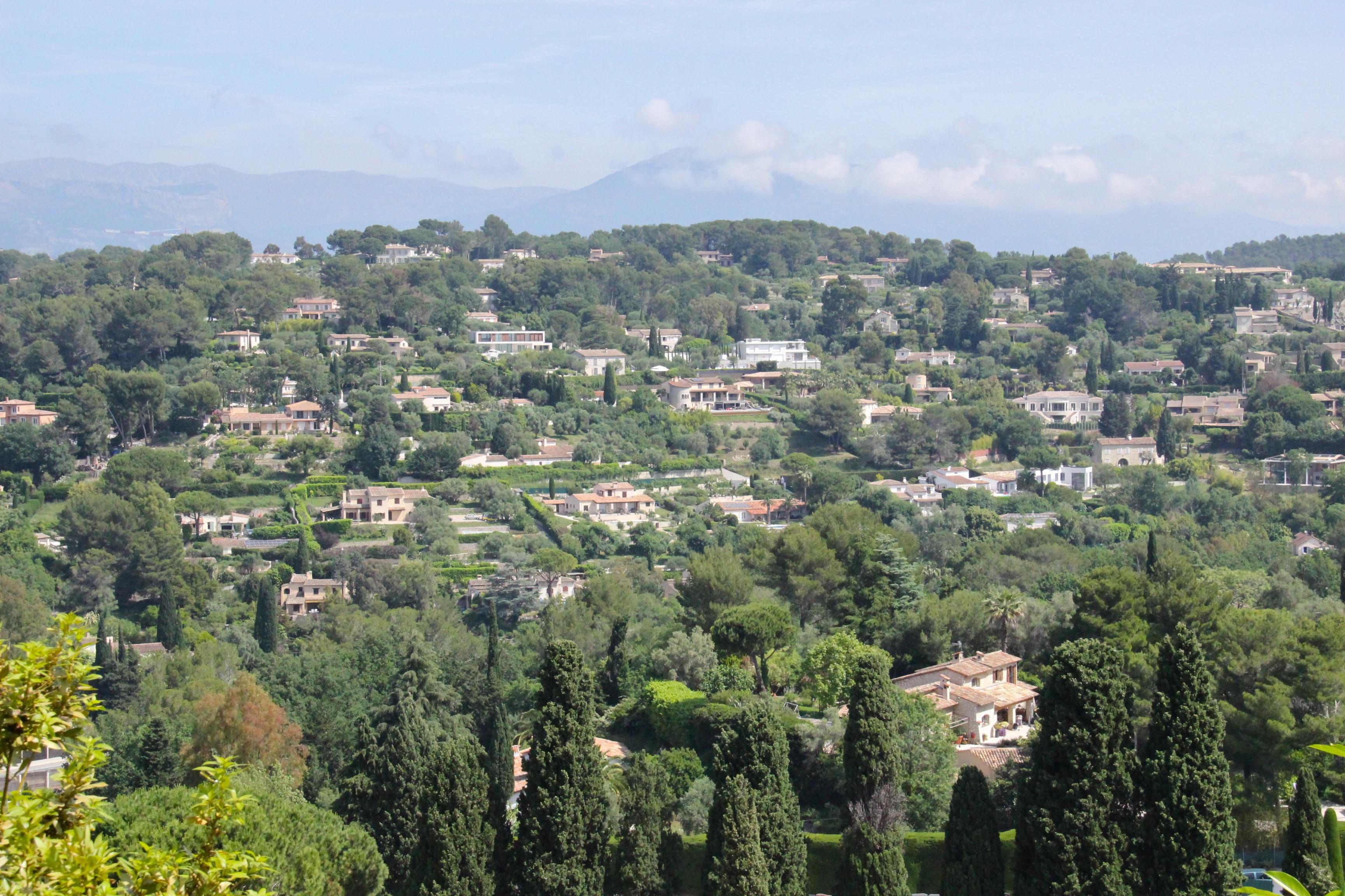 Vue des collines depuis Mougins