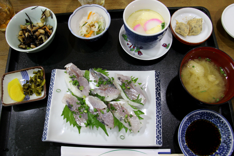 Sushi et shiso vert