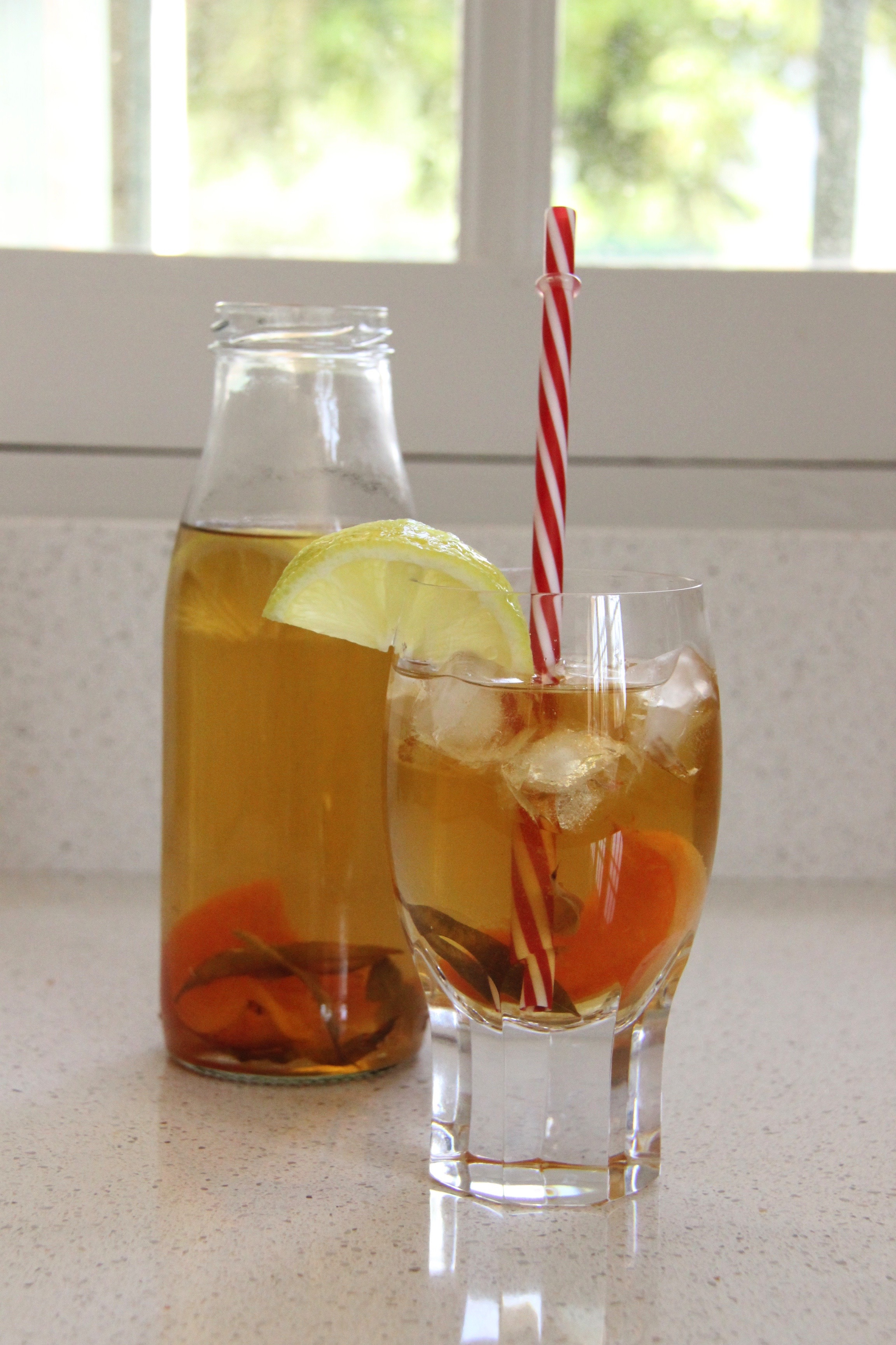 Infusion glacée verveine abricot citron