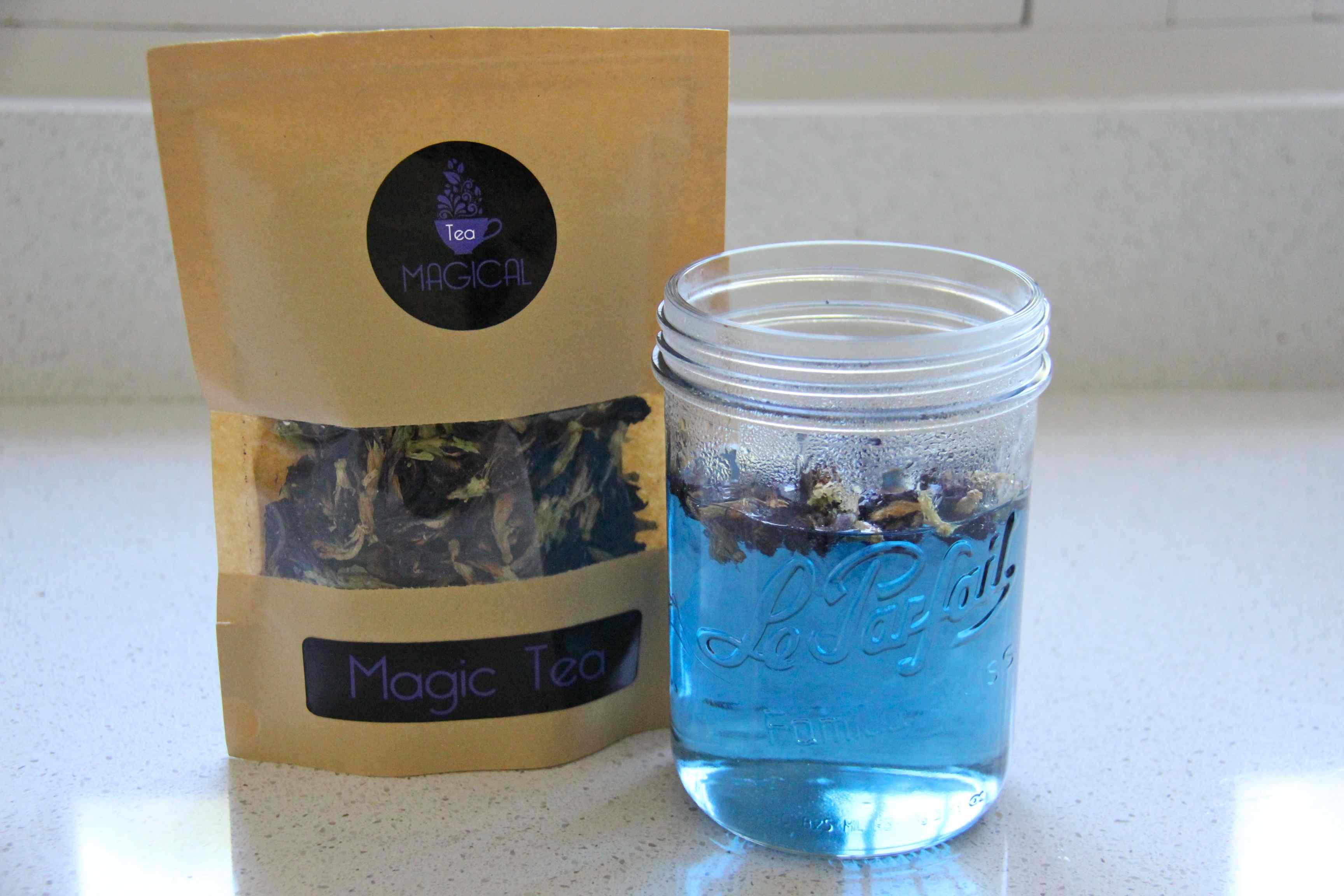 thé bleu magique