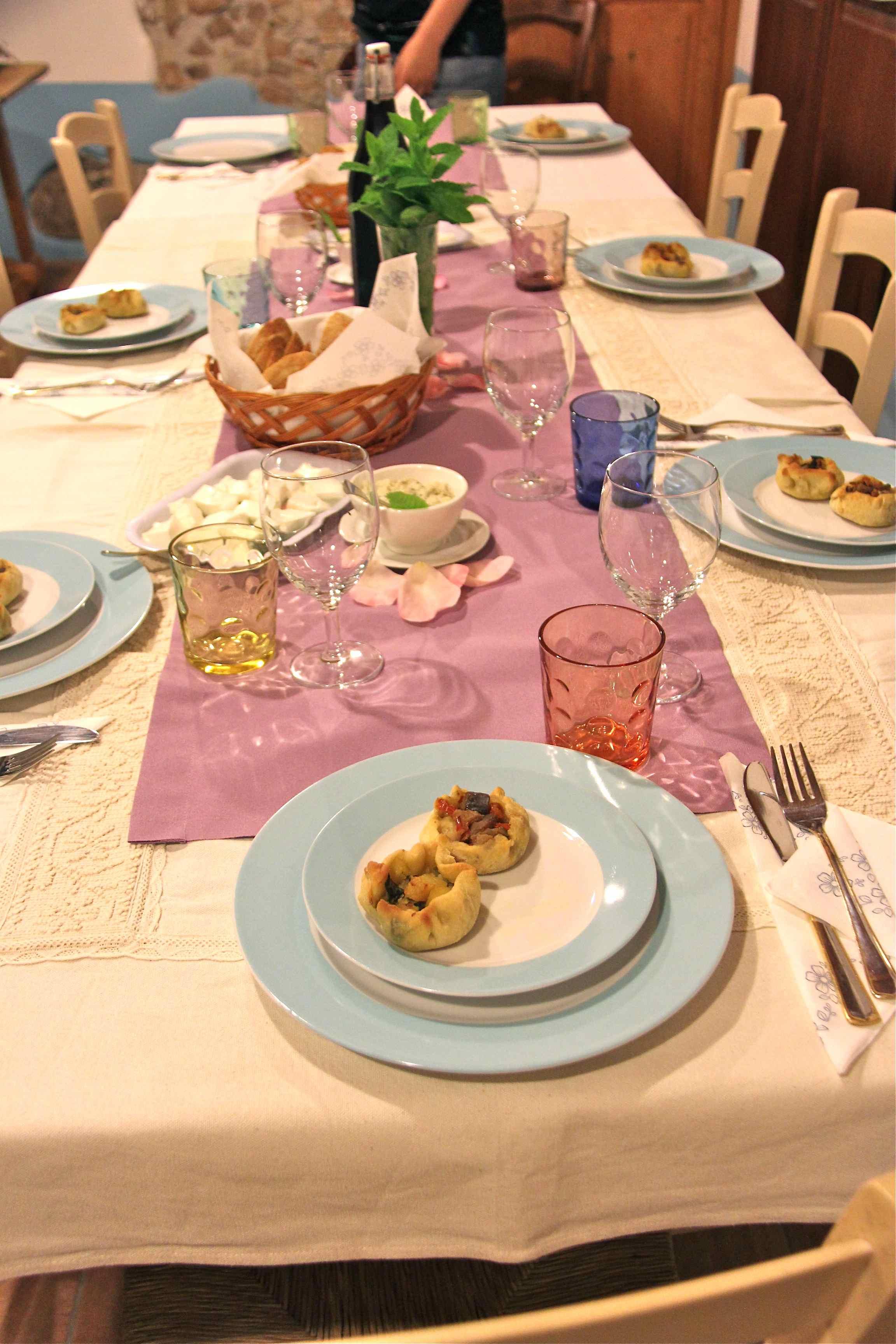 Diner sarde avec spécialités