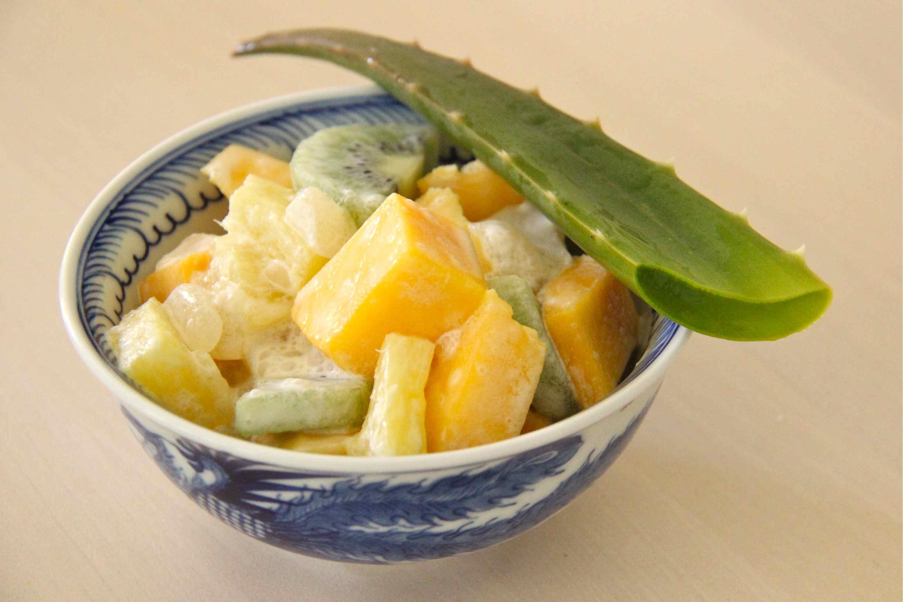 Salade de fruits à l'aloe vera