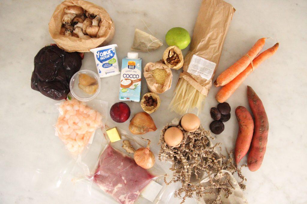 Contenu de la box Rutabago : des produits frais et bio pré-pesés à cuisiner