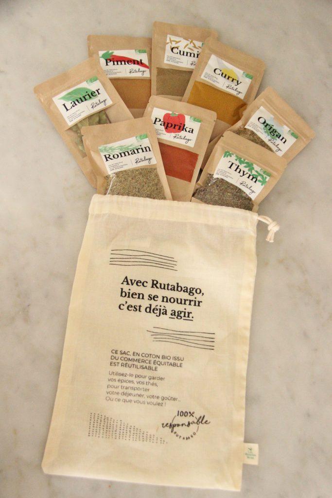 Cadeau de bienvenue de la box Rutabago : kit d'épices et herbes aromatiques