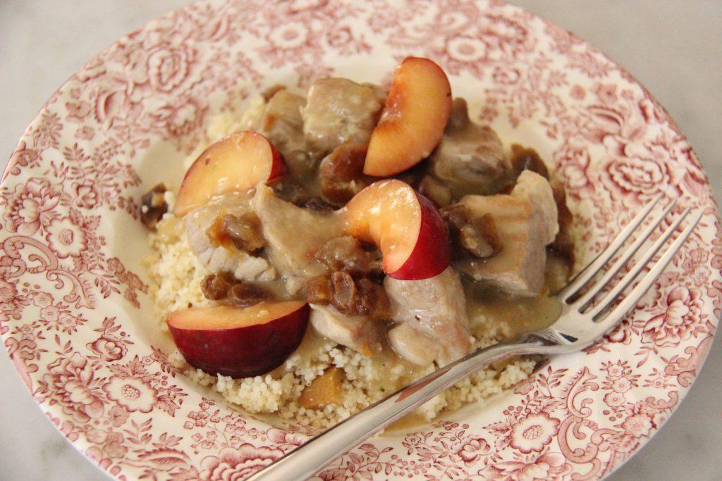 Sauté de porc aux fruits et couscous, une recette de la box Rutabago
