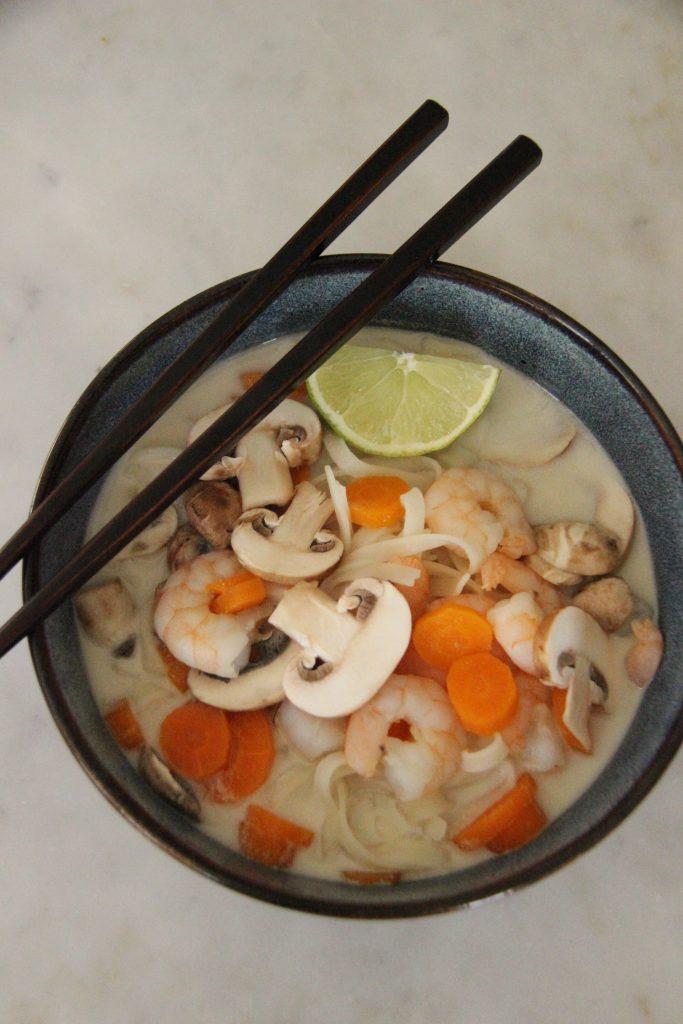 Soupe thaï de crevettes, une recette de la box Rutabago