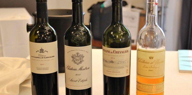Quatre grands crus de Bordeaux à déguster avec Prodégustation