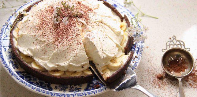 Banoffee, tarte à la banane, dulce de leche et chantilly